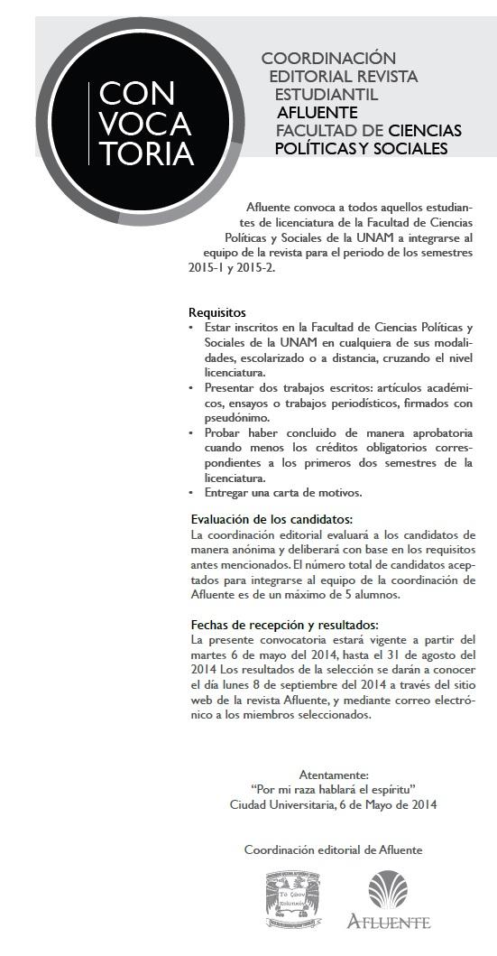 Convocatoria Coordinación Editorial