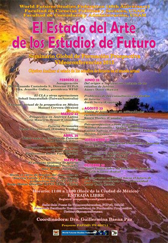 SEMINARIO GLOBAL DE FORMACIÓN PROSPECTIVA. Videoconferencias 2013
