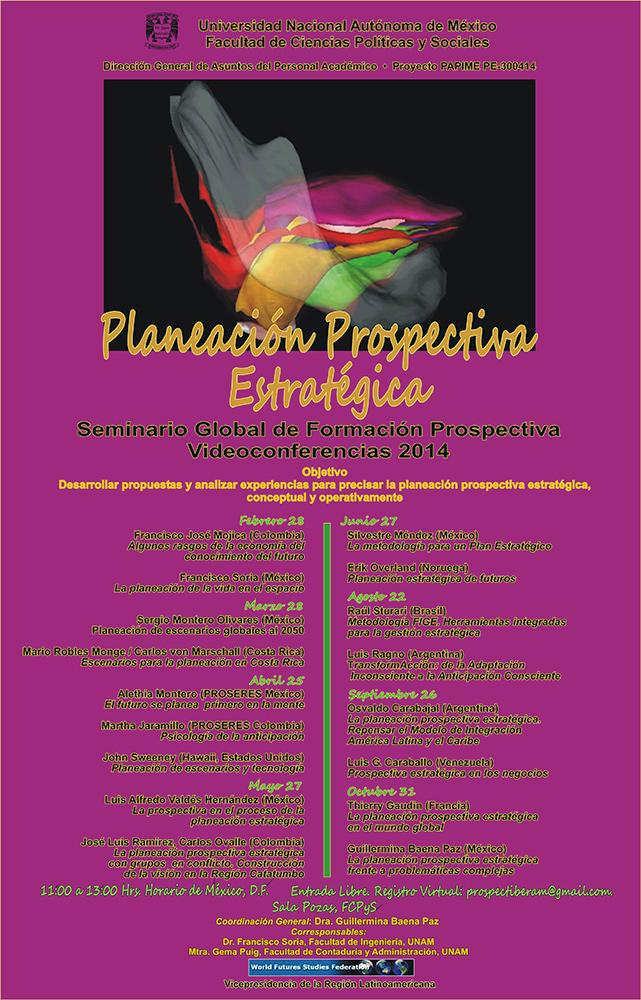 SEMINARIO GLOBAL DE FORMACIÓN PROSPECTIVA. Videoconferencias 2014