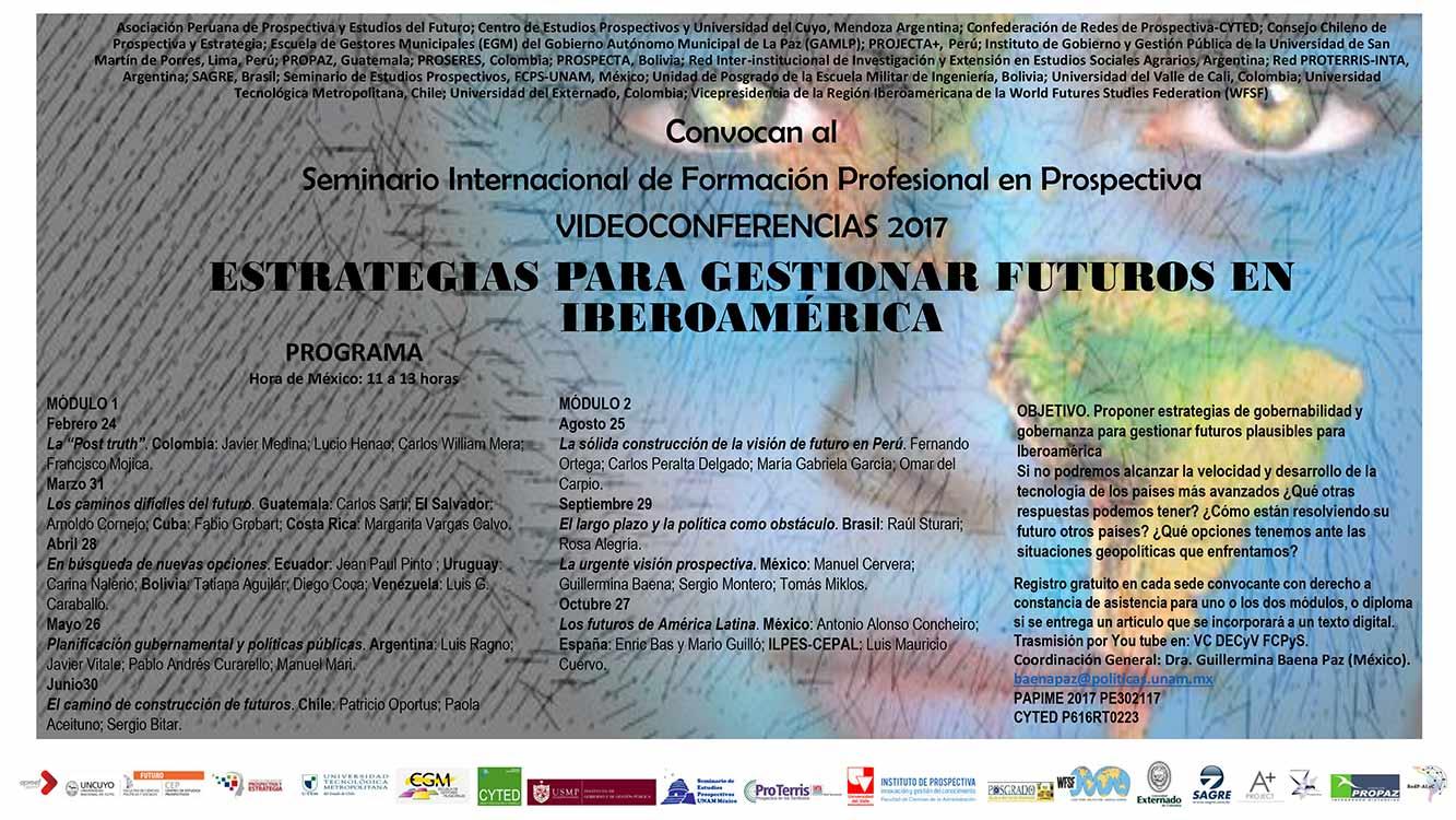 SEMINARIO INTERNACIONAL DE FORMACIÓN PROFESIONAL EN PROSPECTIVA VIDEOCONFERENCIAS 2017